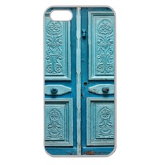 Turquoise Oriental Old Door Apple Seamless Iphone 5 Case (clear)