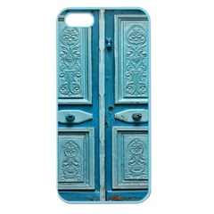 Turquoise Oriental Old Door Apple Seamless Iphone 5 Case (color)