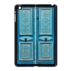 Turquoise Oriental Old Door Apple iPad Mini Case (Black)