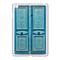 Turquoise Oriental Old Door Apple iPad Mini Case (White)