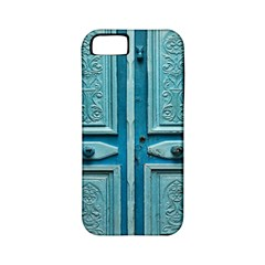 Turquoise Oriental Old Door Apple Iphone 5 Classic Hardshell Case (pc+silicone)