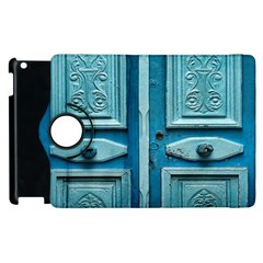 Turquoise Oriental Old Door Apple iPad 2 Flip 360 Case