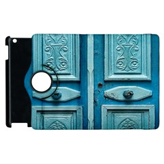 Turquoise Oriental Old Door Apple Ipad 3/4 Flip 360 Case