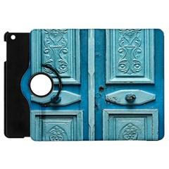 Turquoise Oriental Old Door Apple iPad Mini Flip 360 Case