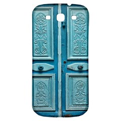 Turquoise Oriental Old Door Samsung Galaxy S3 S Iii Classic Hardshell Back Case