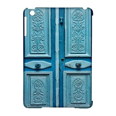 Turquoise Oriental Old Door Apple iPad Mini Hardshell Case (Compatible with Smart Cover)