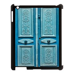 Turquoise Oriental Old Door Apple Ipad 3/4 Case (black)
