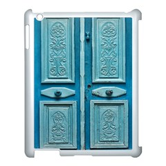 Turquoise Oriental Old Door Apple iPad 3/4 Case (White)