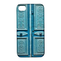 Turquoise Oriental Old Door Apple Iphone 4/4s Hardshell Case With Stand