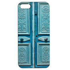 Turquoise Oriental Old Door Apple iPhone 5 Hardshell Case with Stand