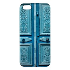 Turquoise Oriental Old Door Apple Iphone 5 Premium Hardshell Case