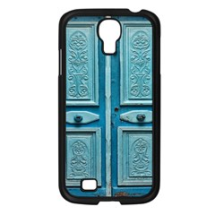 Turquoise Oriental Old Door Samsung Galaxy S4 I9500/ I9505 Case (Black)