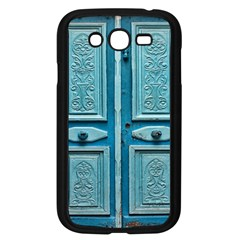 Turquoise Oriental Old Door Samsung Galaxy Grand Duos I9082 Case (black)