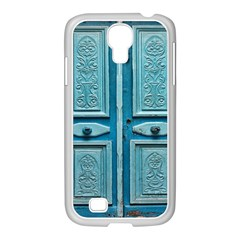 Turquoise Oriental Old Door Samsung GALAXY S4 I9500/ I9505 Case (White)