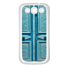 Turquoise Oriental Old Door Samsung Galaxy S3 Back Case (white)