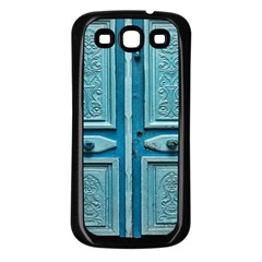 Turquoise Oriental Old Door Samsung Galaxy S3 Back Case (black)