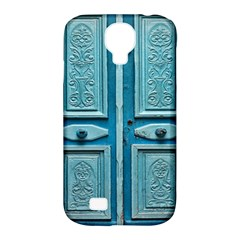 Turquoise Oriental Old Door Samsung Galaxy S4 Classic Hardshell Case (PC+Silicone)
