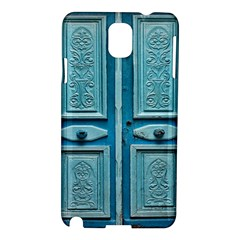 Turquoise Oriental Old Door Samsung Galaxy Note 3 N9005 Hardshell Case