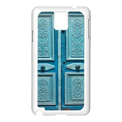 Turquoise Oriental Old Door Samsung Galaxy Note 3 N9005 Case (white)