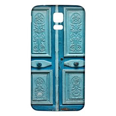 Turquoise Oriental Old Door Samsung Galaxy S5 Back Case (white)