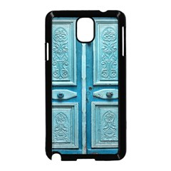 Turquoise Oriental Old Door Samsung Galaxy Note 3 Neo Hardshell Case (Black)