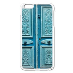 Turquoise Oriental Old Door Apple Iphone 6 Plus/6s Plus Enamel White Case