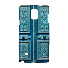 Turquoise Oriental Old Door Samsung Galaxy Note 4 Hardshell Case