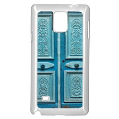 Turquoise Oriental Old Door Samsung Galaxy Note 4 Case (White)