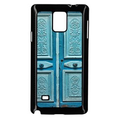 Turquoise Oriental Old Door Samsung Galaxy Note 4 Case (black)