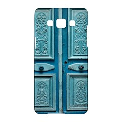 Turquoise Oriental Old Door Samsung Galaxy A5 Hardshell Case
