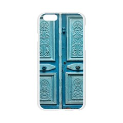 Turquoise Oriental Old Door Apple Seamless iPhone 6/6S Case (Transparent)