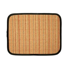 Elegant Striped Linen Texture Netbook Case (small)