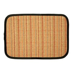 Elegant Striped Linen Texture Netbook Case (medium)