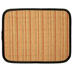 Elegant Striped Linen Texture Netbook Case (large)