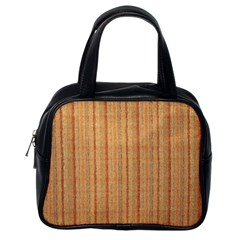 Elegant Striped Linen Texture Classic Handbags (one Side)