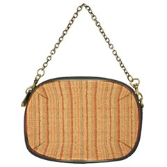 Elegant Striped linen texture Chain Purses (One Side)