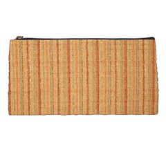 Elegant Striped linen texture Pencil Cases