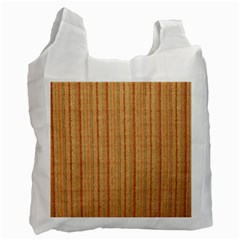 Elegant Striped linen texture Recycle Bag (One Side)