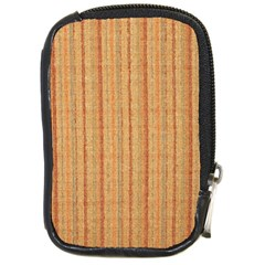 Elegant Striped linen texture Compact Camera Cases