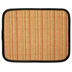 Elegant Striped linen texture Netbook Case (XL)