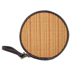 Elegant Striped Linen Texture Classic 20 Cd Wallets