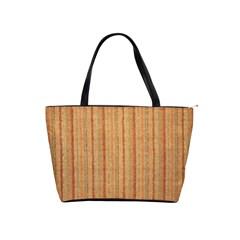 Elegant Striped linen texture Shoulder Handbags