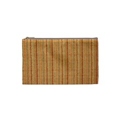 Elegant Striped linen texture Cosmetic Bag (Small)