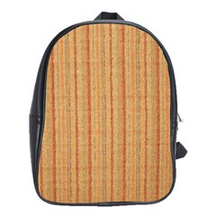 Elegant Striped linen texture School Bags(Large)