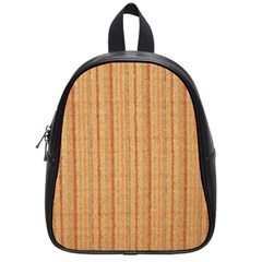 Elegant Striped Linen Texture School Bags (small)