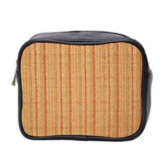 Elegant Striped linen texture Mini Toiletries Bag 2-Side