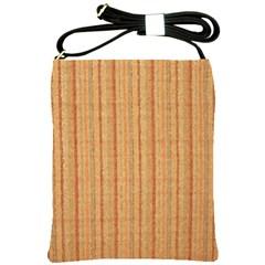 Elegant Striped Linen Texture Shoulder Sling Bags