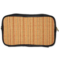 Elegant Striped linen texture Toiletries Bags 2-Side