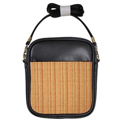 Elegant Striped linen texture Girls Sling Bags