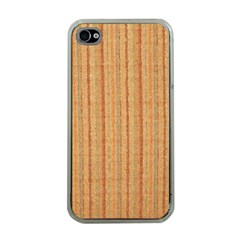 Elegant Striped Linen Texture Apple Iphone 4 Case (clear)